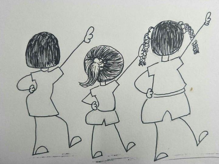 记录记:浙江缙云一美术小学老师上学小学火烧漫画手绘壁图片