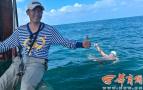 男子成功横渡琼州海峡