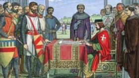 英国颁布《自由大宪章》