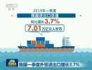 """一季度我国与""""一带一路""""沿线国家外贸进出口2万亿元"""
