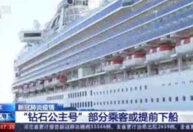 """""""钻石公主""""号乘客19日起下船 首日下船乘客约500人"""