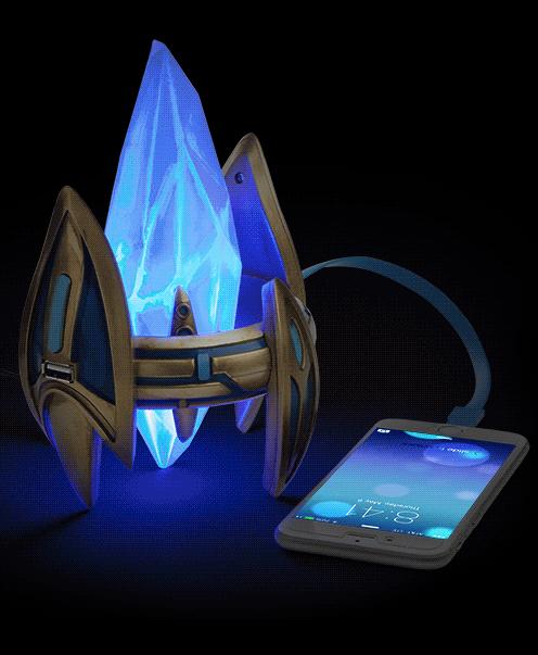 上推出了一款星际争霸主题神族水晶塔usb