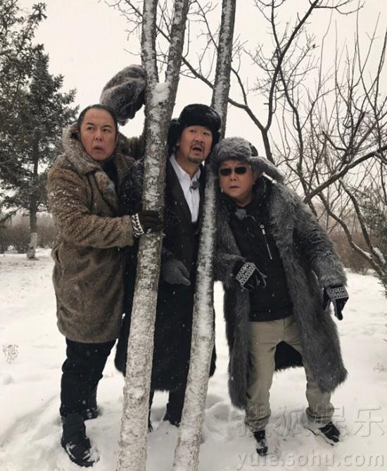 张国立张铁林王刚三人在雪地里玩耍,张国立张铁林王刚再次聚首,张国立图片