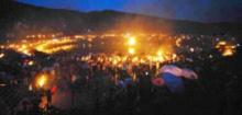 彝族同胞欢度火把节