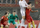 赢了!重压之下无惧色 中国队1:0战胜韩国队