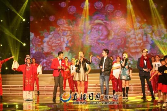 2014年春晚直播现场_精彩,新颖的网络春晚,日照网,直播日照客户端对活动进行了现场直播.