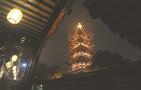新年将至 苏州寒山寺全面亮灯