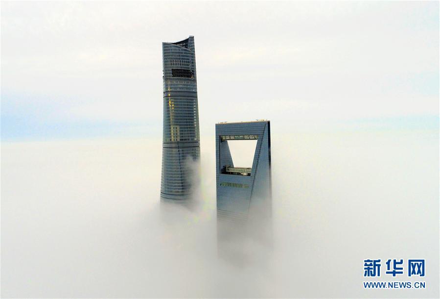 大雾中的城市