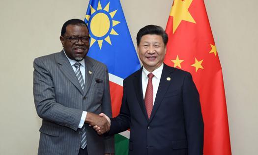 习近平同纳米比亚总统举行会谈