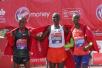 伦敦马拉松举行 肯尼亚选手包揽男女冠军