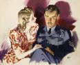 二战英国丽人宣传海报