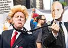 民众示威总统来访