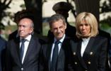 【组图】法国巴黎:法国总统马克龙及前总统萨科齐出席国内悼念仪式