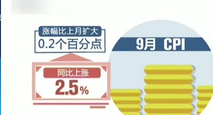 国家统计局:9月CPI PPI涨幅总体平稳