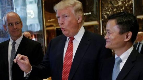 马云/核心提示:特朗普团队表示,特朗普和马云的谈话涉及马云的电子...
