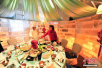 沈阳冰屋火锅餐厅受欢迎 市民体验冰火两重天