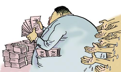 老板嫌发工资烦欠薪被员工围堵