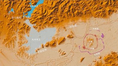 良渚古城及外围水利系统结构图