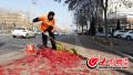 春节1000名环卫工坚守岗位 万余吨垃圾鞭炮皮占三分之一