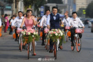 骑共享单车结婚