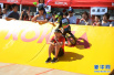 萌娃参加平衡车挑战赛