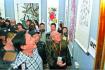 百位影视名人首次同场秀书画 李雪健等人的作品引发围观