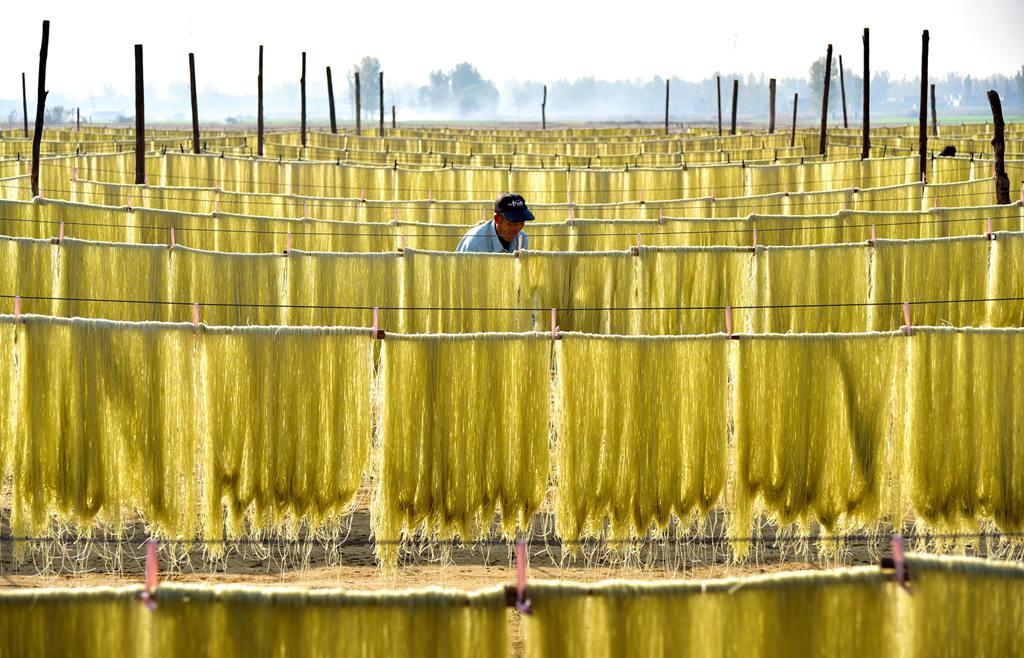 """枣庄:""""晾晒经济""""助农民冬季增收"""