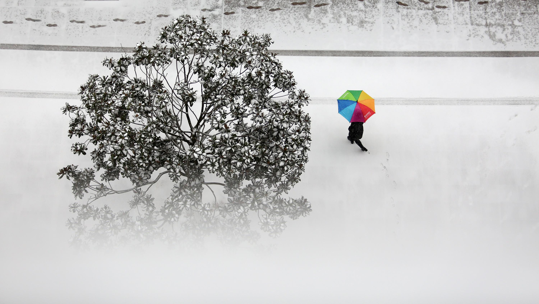 山东临沂迎来强降雪