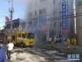 韩国一家医院发生火灾