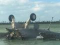 美军战机坠毁现场曝光