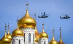 胜利日大阅兵彩排 俄各型战机飞越红场