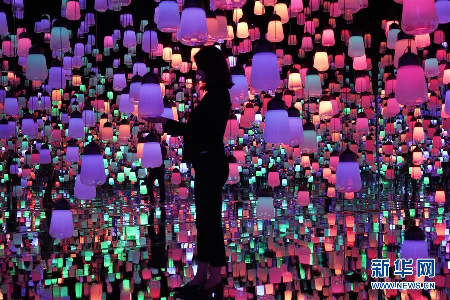 """(国际)(1)走进日本""""无边界""""数字艺术博物馆"""