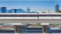济南首列地铁车驶上R1线高架段