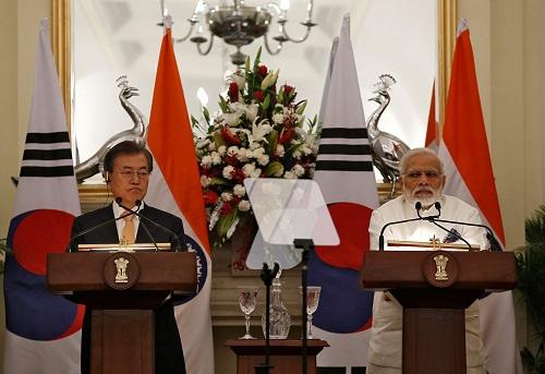 印韩签署协议推进广泛合作莫迪称半岛和平攸关印度利益