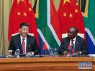 习近平同南非总统拉马福萨举行会谈(图)