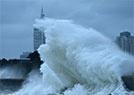 青岛:海边巨浪拍岸