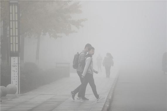 大雾弥漫罩河南