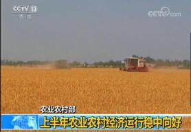 农业农村部:上半年农业农村经济运行稳中向好 农村居民人均可支配收入7778元