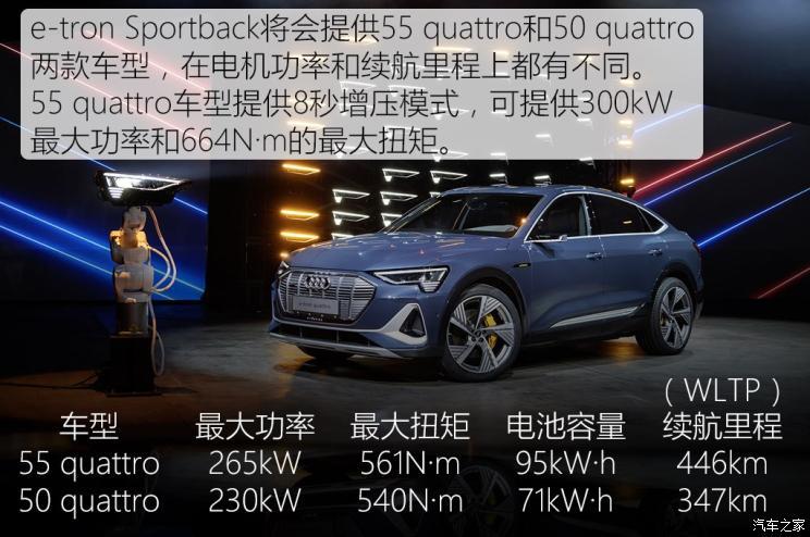 奥迪(进口) 奥迪e-tron 2020款 Sportback