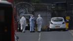 法医进入伦敦恐怖袭击现场调查取证
