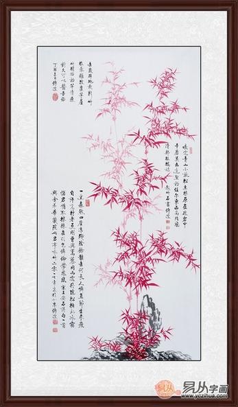 李传波最新红竹画《竹石》图片