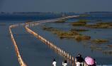 鄱阳湖再现最美水上公路