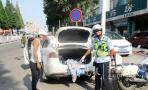 违规停车脱衣遮挡车牌 黄岛男子驾驶证被记12分