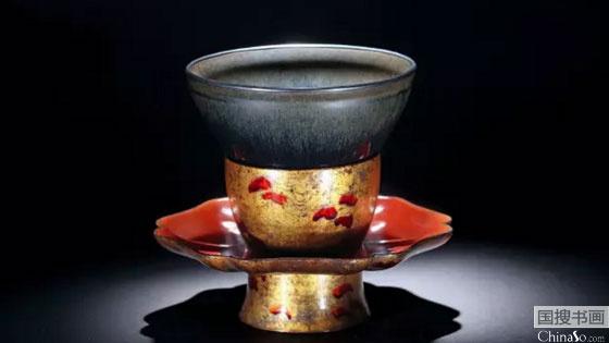 日本重要家族旧藏:南宋建窑黑釉兔毫盏即将拍卖
