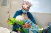 11个月大婴儿术后哭闹不止 女护士撩衣喂奶获赞(图)