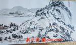 黑龙江68岁老人自学国画半年 1:1临摹了《清明上河图》