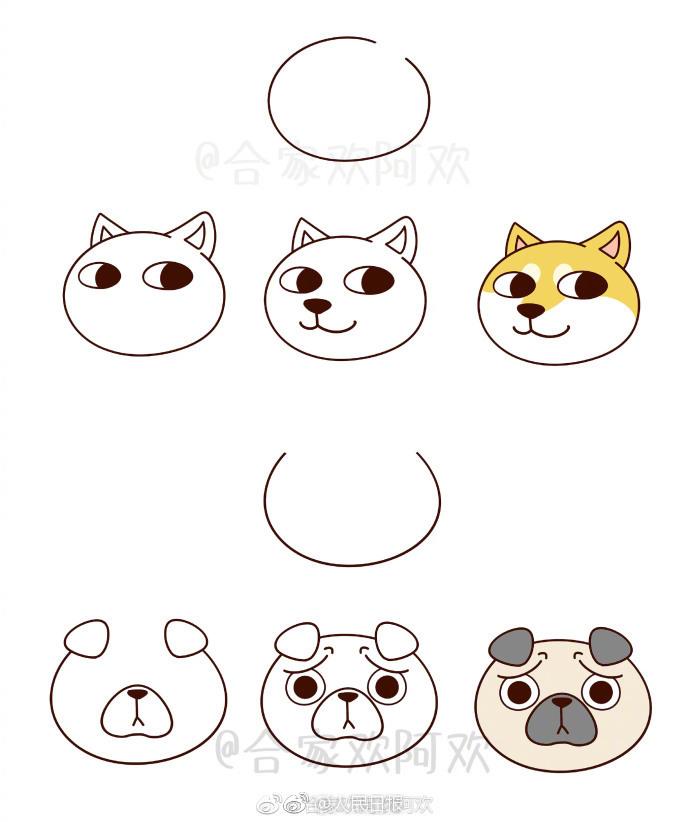 18种不同汪星人的画法