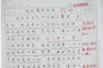 温州一警娃作文刷屏公安朋友圈:从没在校门口看见过我爸爸