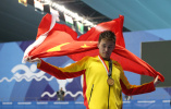 男子自由泳200米颁奖仪式国旗突然掉下,孙杨交涉重新进行