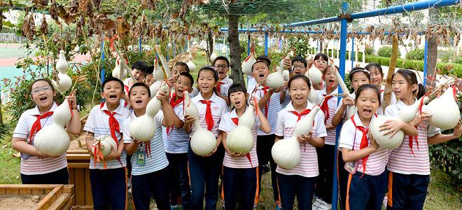 威海:校园葫芦传承传统文化